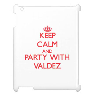 Keep calm and Party with Valdez iPad Case