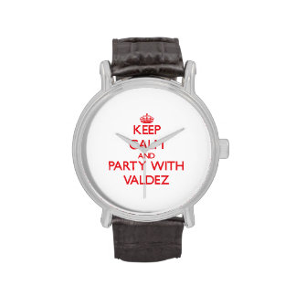 Keep calm and Party with Valdez Wrist Watches
