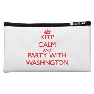 Keep calm and Party with Washington Makeup Bags