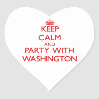 Keep calm and Party with Washington Heart Stickers