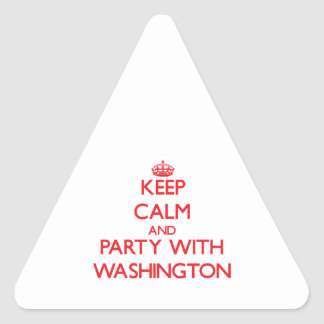 Keep calm and Party with Washington Sticker