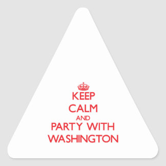 Keep calm and Party with Washington Triangle Stickers