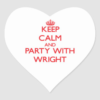 Keep calm and Party with Wright Heart Sticker