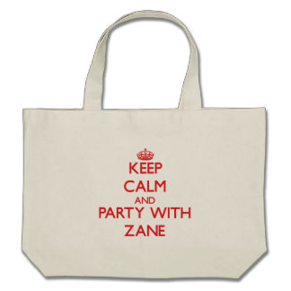 Keep calm and Party with Zane Canvas Bag