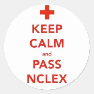 Keep Calm and Pass NCLEX Stickers