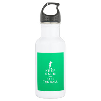 Keep Calm and Pass The Ball 532 Ml Water Bottle
