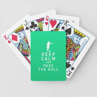 Keep Calm and Pass The Ball Poker Cards