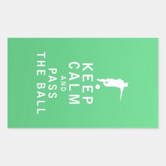 Keep Calm and Pass The Ball Rectangular Sticker