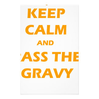 KEEP CALM AND PASS THE GRAVY THANKSGIVING STATIONERY