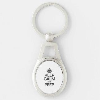 KEEP CALM AND PEEP KEYCHAIN