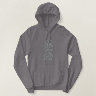 KEEP CALM AND Personalize! Edit up to 5 lines Hoodies