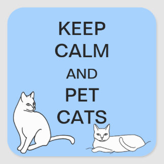 Keep Calm and Pet Cats Custom Stickers