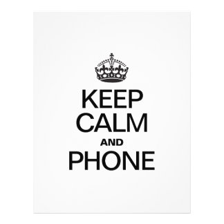 KEEP CALM AND PHONE FLYER DESIGN