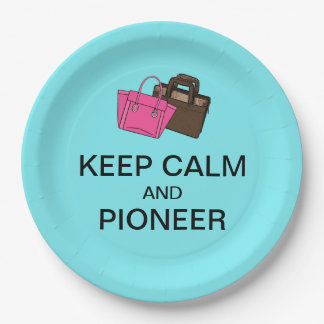KEEP CALM AND PIONEER 9 INCH PAPER PLATE