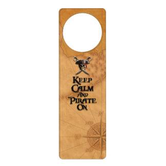 Keep Calm And Pirate On Door Hanger