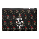 Keep Calm And Pirate On Travel Accessory Bags