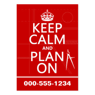 Keep Calm and Plan On (in any color) Large Business Cards (Pack Of 100)