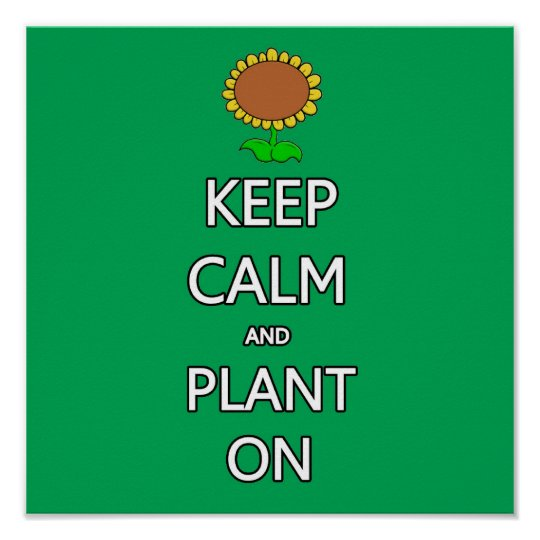 Keep calm and plant  garden vegetable food fruit g poster