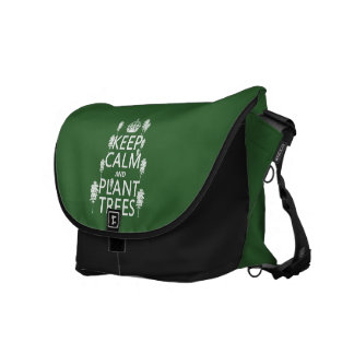 Keep Calm and Plant Trees (all colors) Messenger Bags