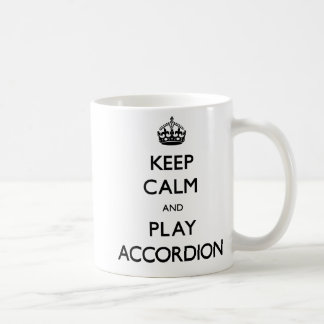 Keep Calm and Play Accordion (Carry On) Basic White Mug