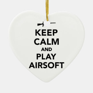 Keep calm and play Airsoft Christmas Ornament