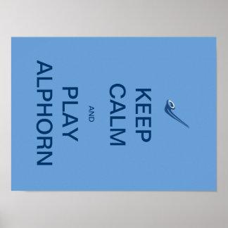 Keep Calm and Play Alphorn Poster