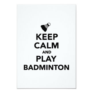 Keep calm and play Badminton Personalized Announcements