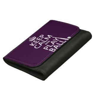 Keep Calm and Play Ball (baseball) (any color) Wallet