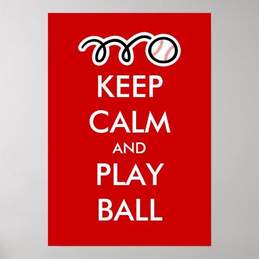 Keep calm and play ball   Baseball Poster