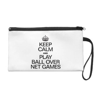 Keep Calm and Play Ball Over Net Games Wristlet Purse