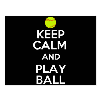 Keep Calm and Play Ball! Postcard