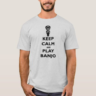 Keep Calm and Play Banjo Tee