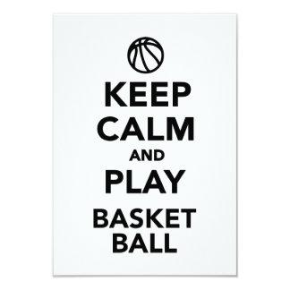 Keep calm and play Basketball 9 Cm X 13 Cm Invitation Card