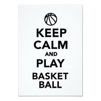 Keep calm and play Basketball Card