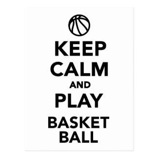 Keep calm and play Basketball Post Cards