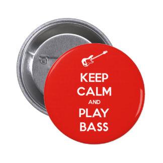 Keep Calm and Play Bass 6 Cm Round Badge