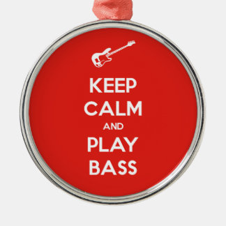 Keep Calm and Play Bass Christmas Ornament