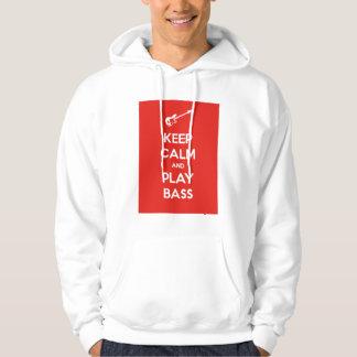 Keep Calm and Play Bass Hooded Sweatshirts