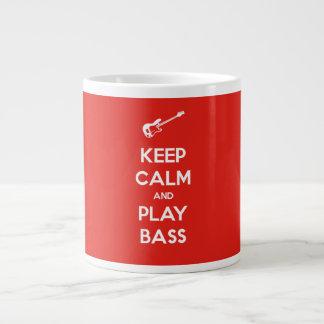 Keep Calm and Play Bass 20 Oz Large Ceramic Coffee Mug