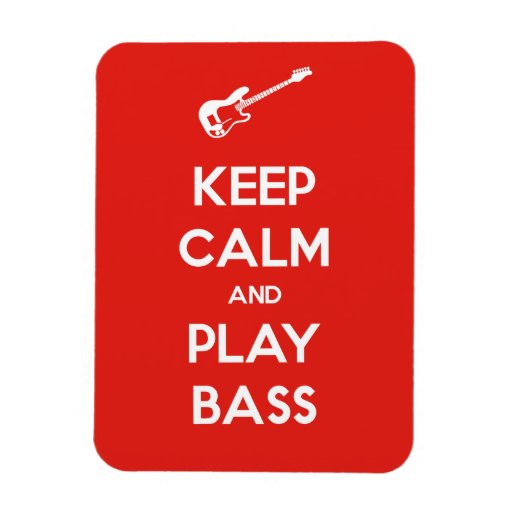 Keep Calm and Play Bass Flexible Magnets
