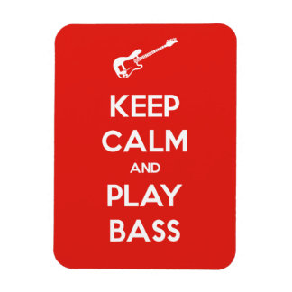 Keep Calm and Play Bass Rectangular Photo Magnet