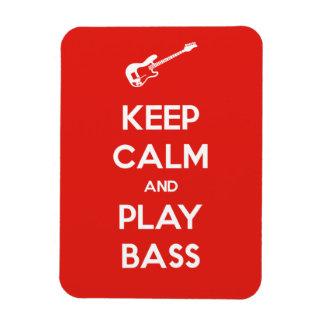 Keep Calm and Play Bass Rectangular Photo Magnet