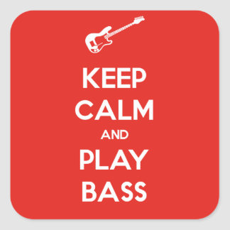Keep Calm and Play Bass Stickers