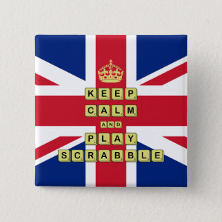 Keep Calm And Play Board Games 15 Cm Square Badge