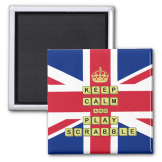 Keep Calm And Play Board Games Square Magnet