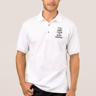 Keep calm and play bridge polo t-shirt