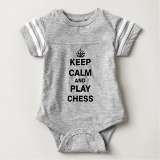 Keep Calm and Play Chess Baby Bodysuit