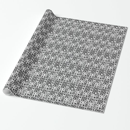 Keep Calm and Play Chess Pattern Wrapping Paper