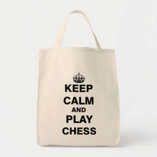 Keep Calm and Play Chess Tote Bag