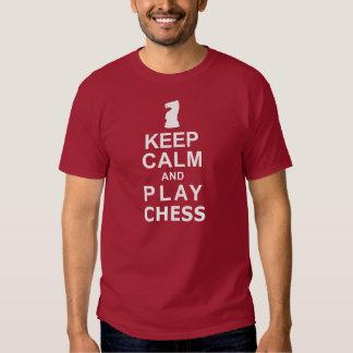 Keep Calm and Play Chess Tshirt